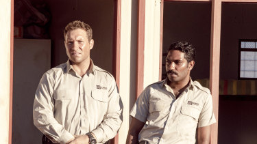 Jay Courtney plays a young father of two who has taken a job at a remote detention centre, with Clarence Ryan.