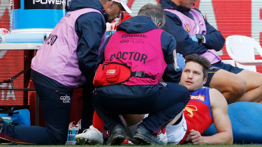 Stefan Martin was injured in the Lions' first-round clash against Hawthorn.