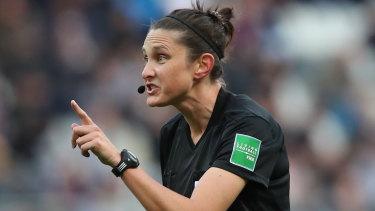 Making history: Australian referee Kate Jacewicz.