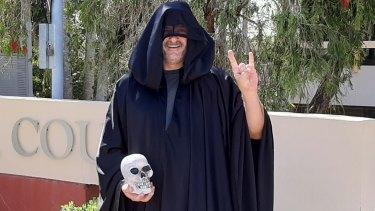 Noosa Temple of Satan (NTS) founder Robin Bristow, aka Brother Samael Demo-Gorgon.