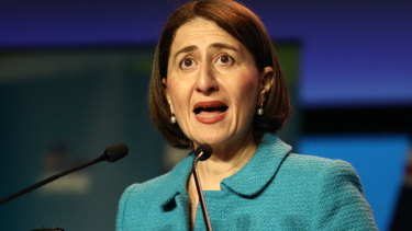Premier Gladys Berejiklian addresses the party's state council for the first time since her historic election win.