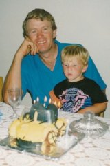 Canberra Demons player-coach Kade Klemke and his father Lester.