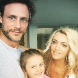 Radio presenter Jackie 'O' Henderson and her former husband Lee and daughter Catalina.