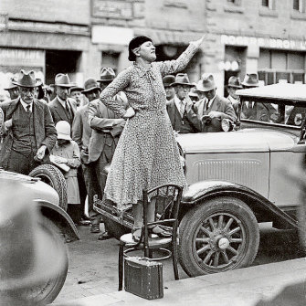 A 1941 photograph of Adela Pankhurst. Records of her peace efforts in WWI are now at risk of turning to dust.