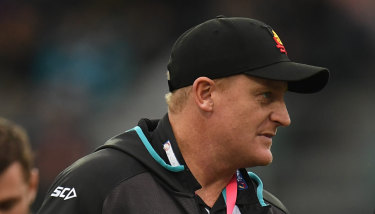 Michael Voss, currently an assistant with Port Adelaide, wants to be a senior AFL coach again.