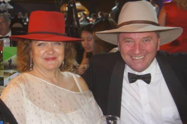 Fangirl: Gina Rinehart and Barnaby Joyce at the National Agriculture Day celebration last November.