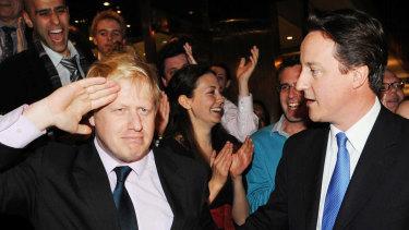 Boris Johnson and David Cameron in 2008.