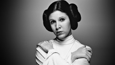 Rebel princess and feminist icon: Carrie Fisher as Princess Leia Organa.