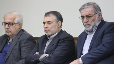 Iranian nuclear scientist Mohsen Fakhrizadeh, right, was assassinated on Friday.