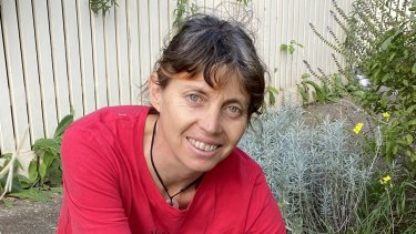 Karen Sutherland on her Pascoe Vale South nature strip.