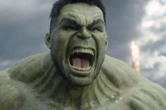 Mark Ruffalo as Hulk in the Marvel films.
