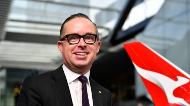 Qantas Group Chief Executive Officer Alan Joyce. The airline says Qatar is distorting the local market with below-cost tickets.