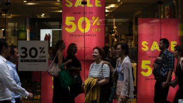 Mall landlords are under pressure as rents fall.