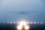 plane disappearing cloud fog