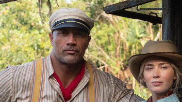 """""""My original goal was to become a television sitcom actor"""": Dwayne Johnson and Emily Blunt in Jungle Cruise."""