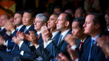 The G20 leaders in Brisbane in 2014.