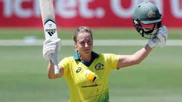 Left out: Ellyse Perry has been caught in the middle of conflict between the Australian and Indian cricket boards.