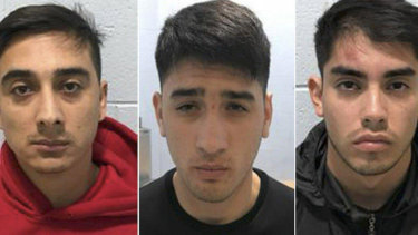 Jonathan Garay, 29, Eduardo Queralto, 22, and Kevin Castillo, 22, who were in the United States on temporary visas from Chile, were arrested on suspicion of burglary and conspiracy, the Simi Valley Police Department said.