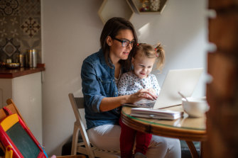 Some parents are worried about working from home with their children.