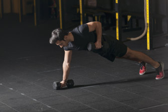 When it comes to renegade rows, keep the weight light and lock in your core to stop it moving.