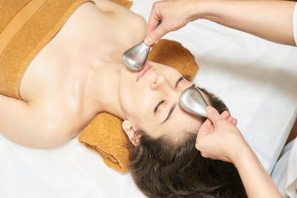 It helps build collagen and elastin, stimulate circulation and help with facial muscle tone.