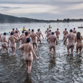 Naked bathers turn heads in our photos of the week