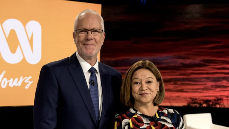 Former ABC managing director Michelle Guthrie with ex-ABC chairman Justin Milne.