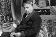 Italian painter Giorgio De Chirico in his studio, c 1925
