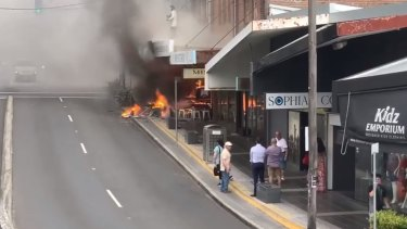 A fire at the Jailhouse Rock Pizza on Homer St, Earlwood, November 26, 2019.