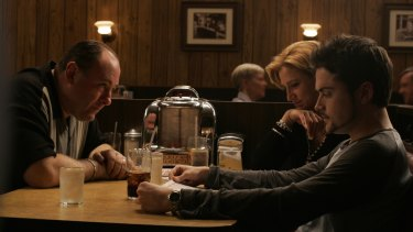 A scene from the final episode of The Sopranos. The finale remains highly contentious.