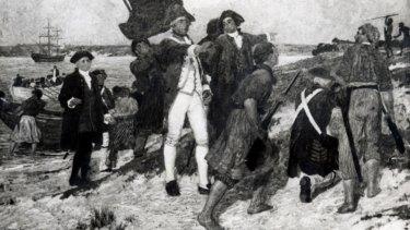 Captain James Cook's Botany Bay landing.