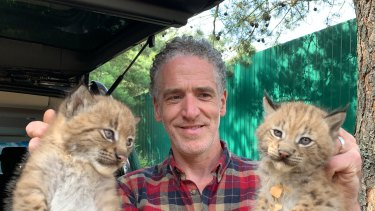 Wildlife  documentary filmmaker Gordon Buchanan in a scene from Snow Cats and Me.