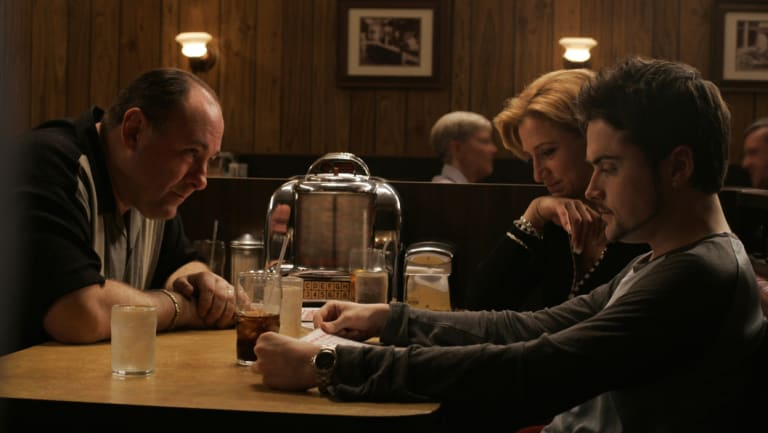 "A scene from the final epsiode of ""The Sopranos""."