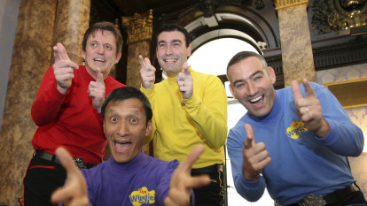 Wiggles take to the stage while Greg Page remains in hospital
