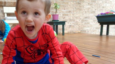 William Tyrrell, who vanished in 2014, in his Spider-Man suit.