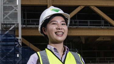 Elizabeth Lau works in the construction industry for building company Lendlease.