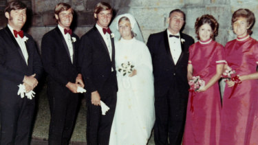 Chris and Lynette Dawson on their wedding day.