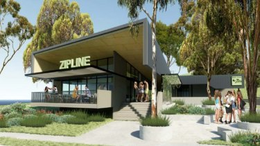 Concept images of Brisbane City Council's planned zipline centre at Mt Coot-tha.