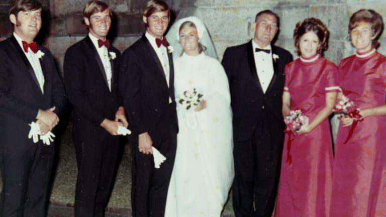 Chris and Lynette Dawson on their wedding day.