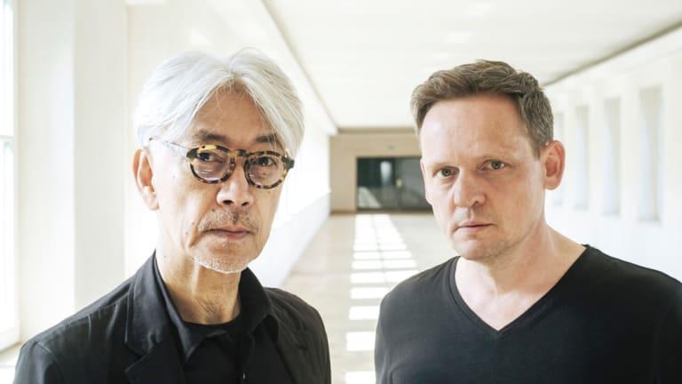 Ryuichi Sakamoto and Alva Noto(real name Carsten Nicolai).