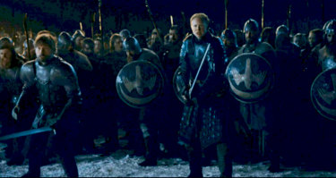 Bring out your dead: the allied armies of Westeros prepare to meet the enemy.