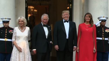 US President Donald Trump hosted a dinner in London on Tuesday attended by Charles, the Prince of Wales, and his wife  Camilla.