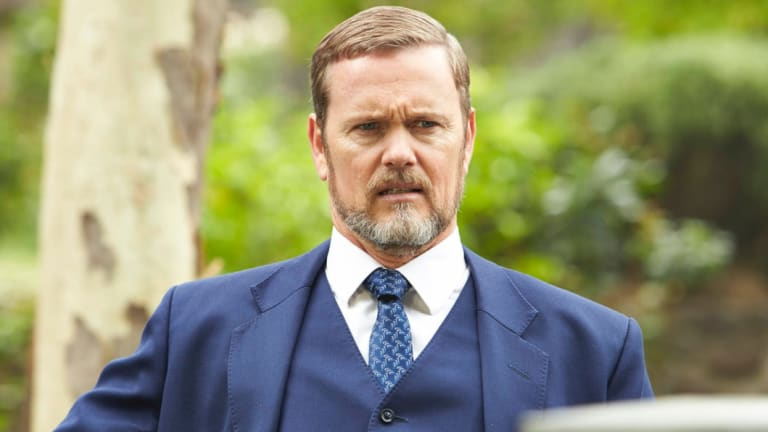 Craig McLachlan in character on the ABC's The Doctor Blake Mysteries.