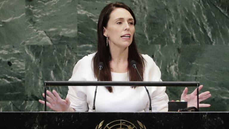 New Zealand's Prime Minister Jacinda Ardern addresses the United Nations General Assembly.
