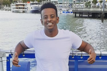 GirumMekonnen, 19, was fatally stabbed atO'Callaghan Park in Zillmere in Brisbane's north on Sunday evening.