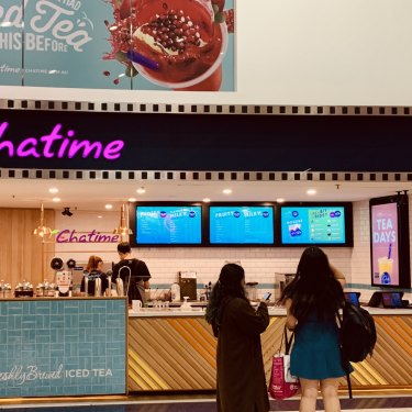 Chatime branch within Events cinemas on George Street, Sydney.