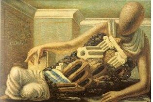 Giorgio de Chirico's The Archaeologist, 1927.