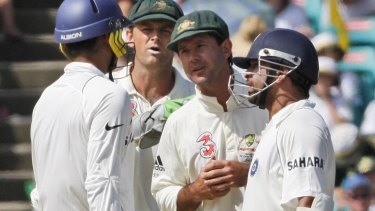 Years in the making: Ricky Ponting during the controversial Test series against India in 2008.