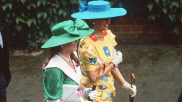 1987: Princess Diana (right) and Sarah, Duchess of York.