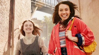 Sofia Nolan and Catherine Van-Davies travel back to the Sydney-Town of 1873 in Playing Beatie Bow.